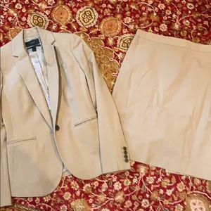 JCrew stretch cotton Suit Jacket 00/Skirt0